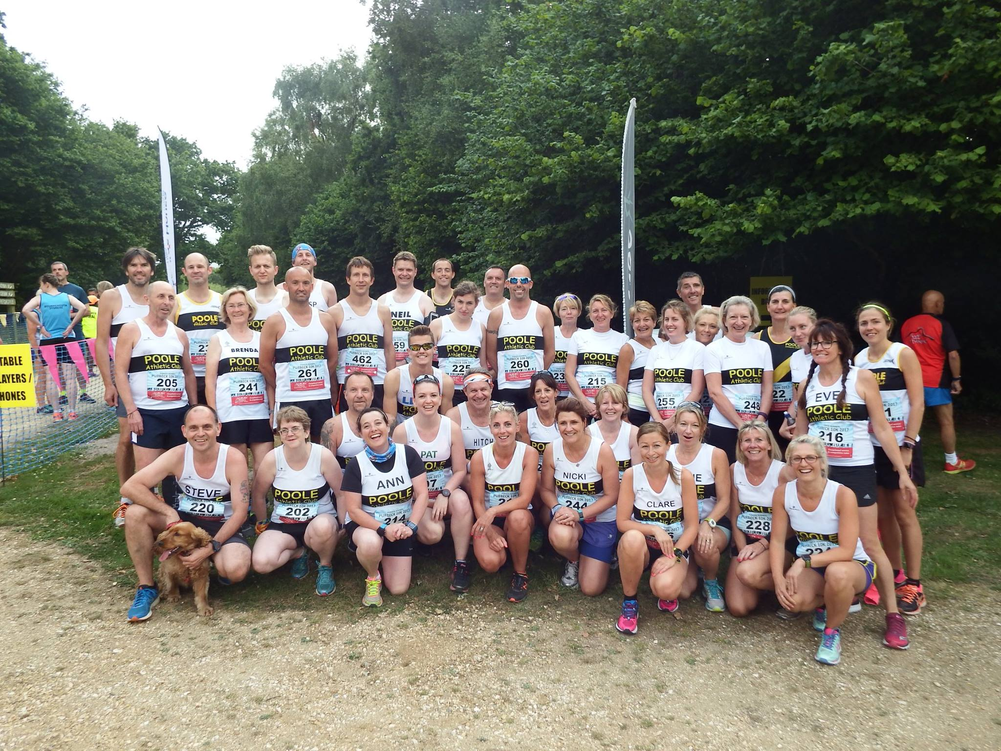 Poole AC at Purbeck 10k 2017