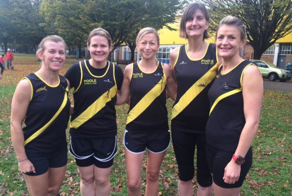 Poole AC ladies XC team