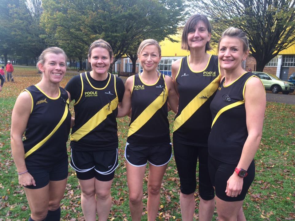 Poole AC ladies XC team