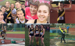 Junior athletes at Poole AC