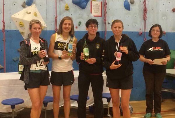 Poole AC winning team at Gold Hill 10k