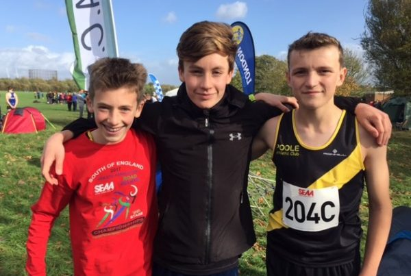 Under 15 Boys poole ac xc team at wormwood scrubs