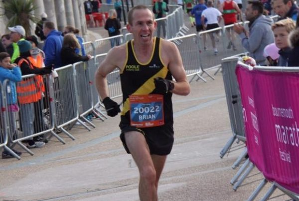 Brian Underwood at Bournemouth Marathon Festival