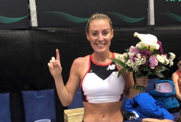 Melissa Courtney winning