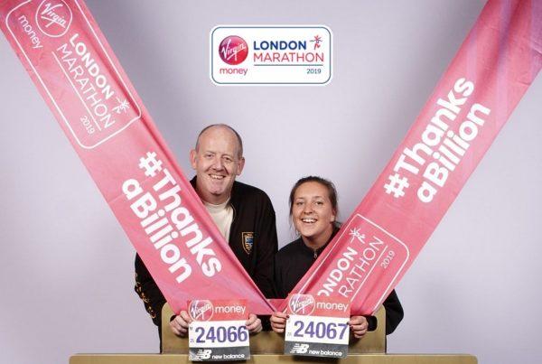 Gary and Alisa at London Marathon