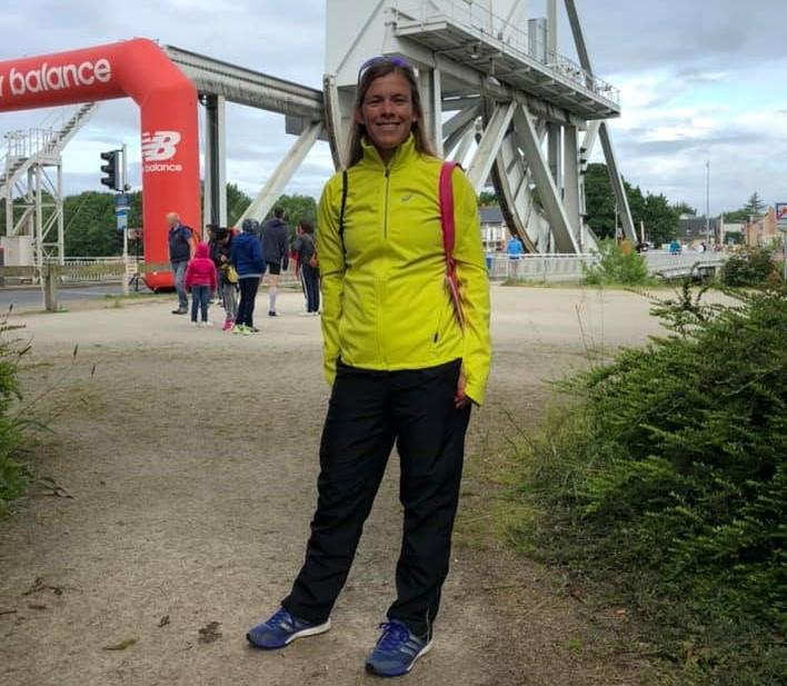 Lesley Moore at Pegasus Half Marathon