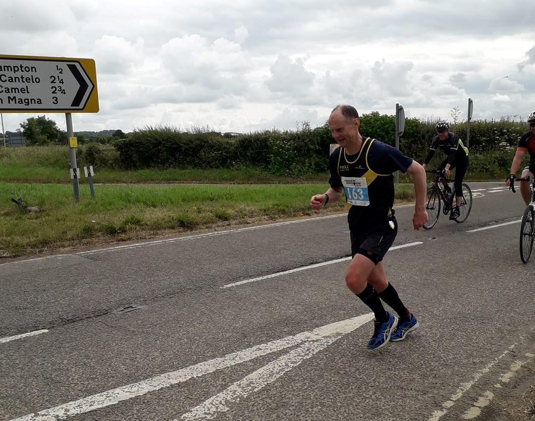 Reuben Skinner at Yeovil Marathon